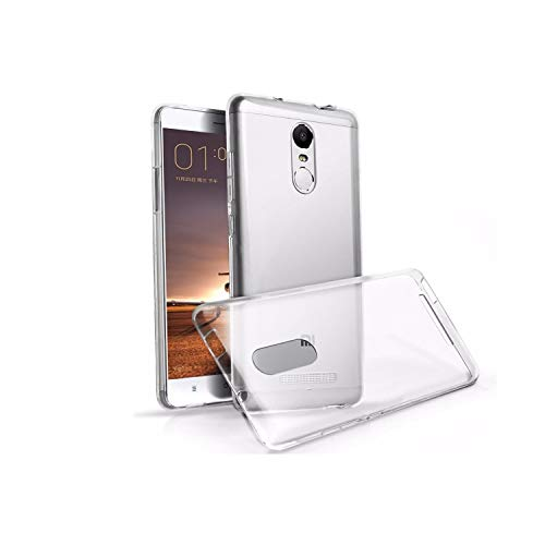 Thinkzy Transparent Premium Soft Back Case Cover for Redmi Note 3