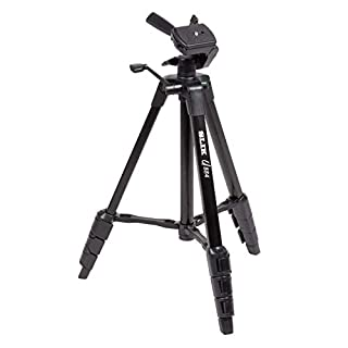 SLIK U883 4-stage Aluminum Leg Tripod with 3-Way Panhead, Geared Center Column, Bubble Level, Quick Shoe Release, Carrying Case, 4.4lb Capacity - Black