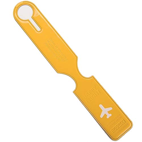 Flight Luggage Tag,  Kofferanhänger gelb gelb ()