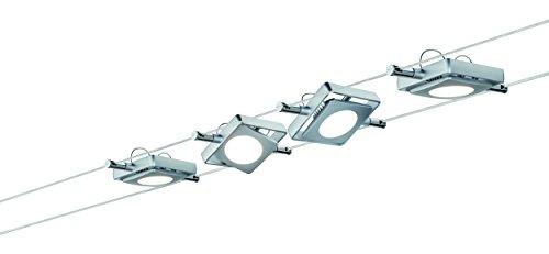 Paulmann Leuchten Smart Wire System Ble Mac LED 230 V/12 DC 36 VA, Metall, 4 W, Chrom Matt, 1000 x 9,2 x 1 cm