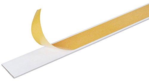 GAH-Alberts 433598 Flachstange - selbstklebend, Aluminium, weiß, 1000 x 20 x 2 mm