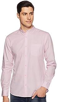 Amazon Brand - Symbol Men's Solid Regular Fit Casual S