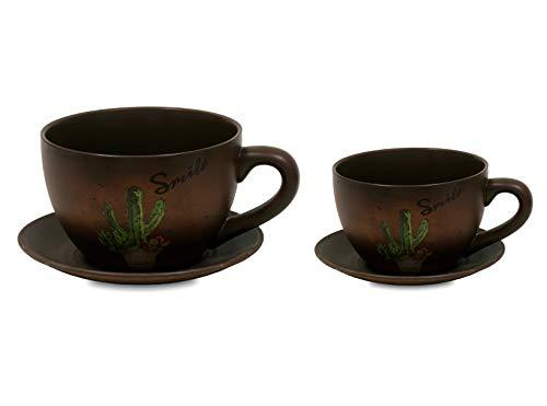 BUAR ARTESANOS Tasse Pot Desert Set/2 (25,5x25,5x15,5 cm/18x18x11 cm.)