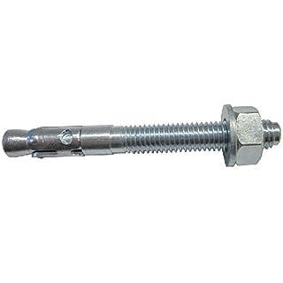 allfa 725001090 Stahlanker mit ETAG 001 Zulassung, verzinkt, M10 x 90 mm 25 Stück