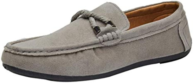 Mocasines de Gamuza de Plano sólido para Hombres, QinMM Casual Alpargatas Zapatillas Zapatos