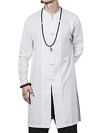 Sankt Men's Textured Tang Suit Knee Length Windbreaker Coat Jacket