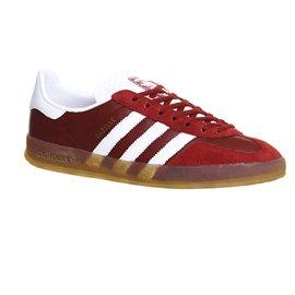 adidas Herren Gazelle Indoor Sneakers, Schwarz Rot / Weiß