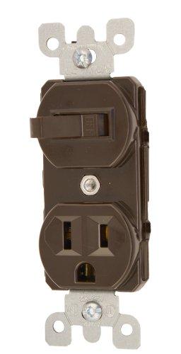 15 Amp Single Pole (Leviton 522515Amp 120Volt Duplex Stil Kombination Single Pole Schalter/Köcher Erdung weiß, 5225, 125 volts)
