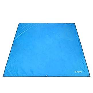 Azarxis Lona de Tienda de Campaña Impermeable Toldo de Camping Portátil Huella Hoja de Suelo Refugio Manta de Sombra Estera para Playa Acampar Picnic