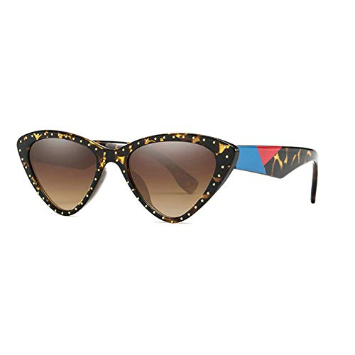 GBST Metal Frame Glasses Clear Lens Vintage Eyeglasses,Leopard Brown