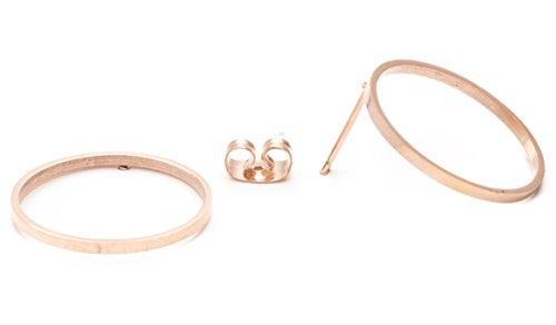 Happiness Boutique Damen Offen Kreis Ohrringe in Rosegold | Kleine Ohrringe im Runden Design Edelstahlschmuck