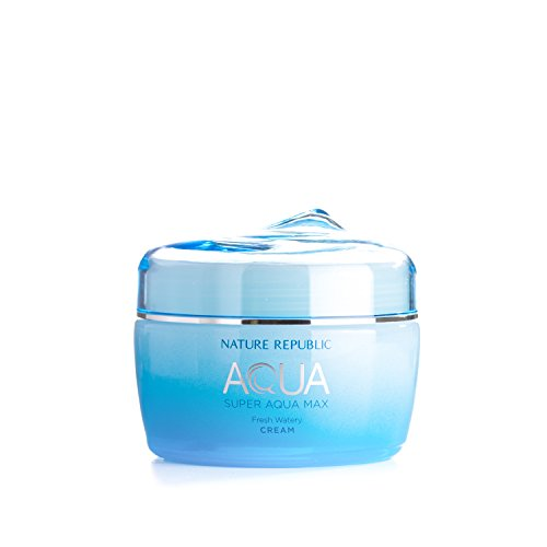 Nature Republic Super Aqua Max Fresh Watery Cream for Oily Skin, 245 Gram (Face Fresh Beauty Cream)