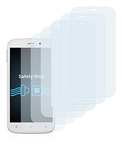 Savvies Schutzfolie für Yezz Andy 5M VR [6er Pack] - klarer Displayschutz