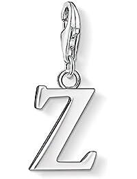 Thomas Sabo Women-Charm Pendant Letter V Charm Club 925 Sterling Silver 0196-001-12