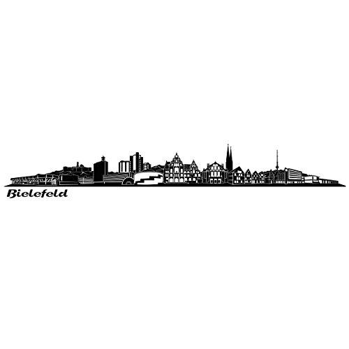 Wandkings Skyline - Deine Stadt wählbar - Bielefeld - 125 x 16 cm - Wandaufkleber Wandsticker Wandtattoo