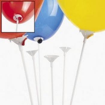 comprare on line Monicaxin 100Pc Aste con valvola per palloncini, 42 cm, colore: bianco/white prezzo