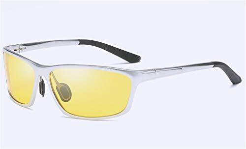 QHCGOOD Sonnenbrille, polarisierte Sport Herren für Ski Driving Golf Running Radfahren superleichten Rahmen Design für Herren und Damen schwarz Silver