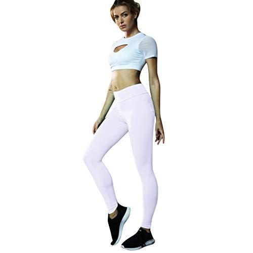 Kaister Yogahosen Die atmungsaktive einfarbige Sport Fitness Laufgamaschenhose der Damen