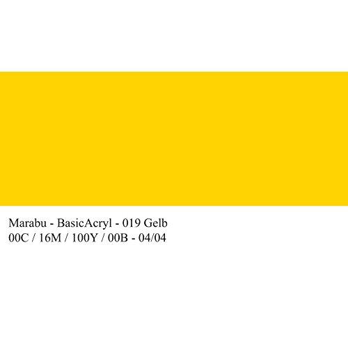 marabu-peinture-acrylique-basicacryl-jaune-80-ml