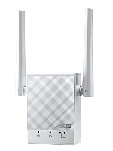 Asus RP-AC51 Dual-Band Repeater (Wi-Fi 5 AC750, 1x Fast Ethernet-LAN, externe Antennen, ExpressWay, App Steuerung)
