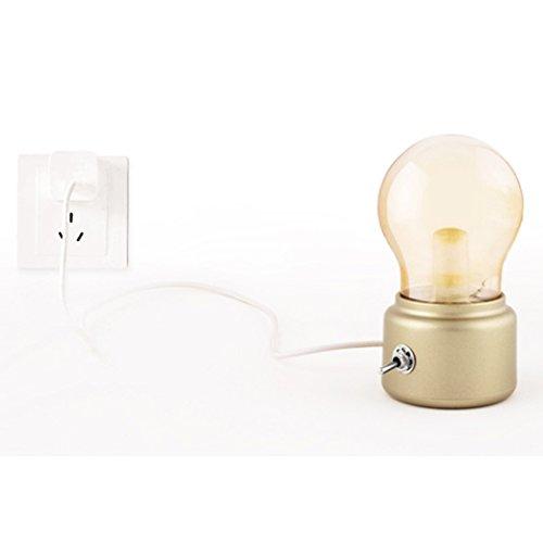 soriace mini led tischlampe drahtlose batteriebetrieben nachtlicht vintage lampe neben tisch. Black Bedroom Furniture Sets. Home Design Ideas