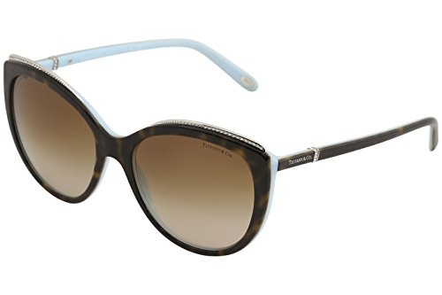 Tiffany 0ty4134b 81343b, occhiali da sole donna, blu (havana/blue/browngradient), 56