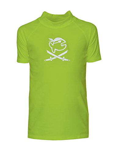 iQ-Company Kinder UV 300 Shirt Kids Jolly Fish, Neon-Green, Gr. 128/134