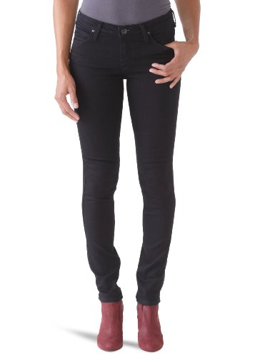 Lee Damen Skinny Jeans Scarlett Schwarz (PITCH BLACK)