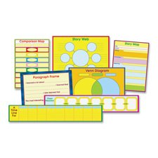 Carson-Dellosa - Graphic Organizer Chart, 6 Charts, 29x17x.125, Multi, Sold as 1 Each, CDP 3265 by Carson-Dellosa