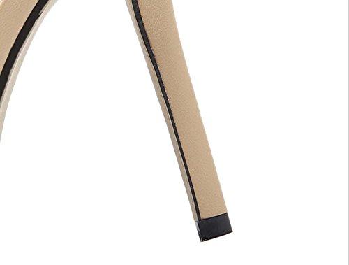 NobS Femminile Nuovo Colore Trasparente Tacco Tacco A Cono Alti Talloni Sandali Con Tacco apricot
