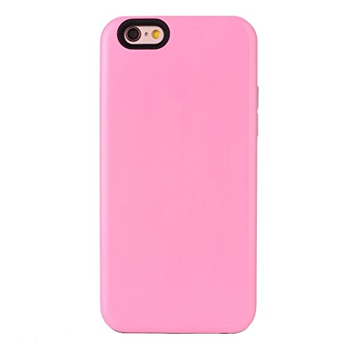IPhone 6 Plus & 6s Plus Koffer TPU + PU Kombination Schutzhülle für iPhone 6 Plus & 6s Plus by diebelleu ( Color : Pink ) Pink