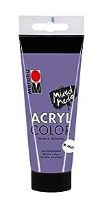 Marabu 0012010050750  Acryl Color, Morado metálico, 100 ml
