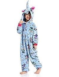 ZZYOU Unicornio Pijama Niños Unicornio Disfraz Mono Halloween Disfraz Animal Pijama Unisexo Cosplay Pijama