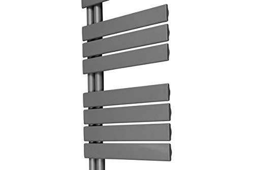 Designer Handtuchheizkörper Badheizkörper 1380x500mm Grau - 9