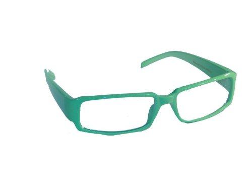 NFP Schlichte Sekretärinnenbrille mit transparenten Gläsern in verschiedenen Neon-Farben * Brille *, Fb.:hellgruen
