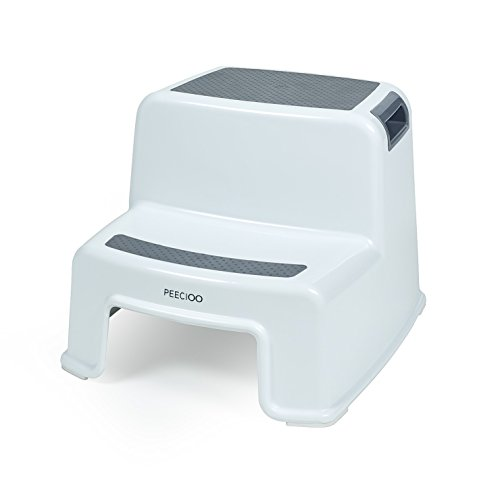 PEECIOO Premium Tritthocker für Kinder, anti-rutsch Trittschemel - 2-Stufig