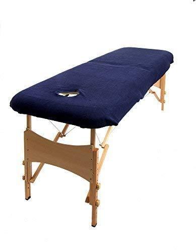 towelsrus copertura aztex classico per lettino da massaggi con buco per il viso, blu navy elasticizzato