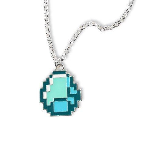 Minecraft - Diamond Anhänger mit Kette, cooler Gamer Schmuck für Sie und Ihn