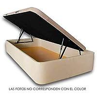 Ventadecolchones - Canapé Modelo Serena Gran Capacidad Apertura Lateral tapizado en Queen Beige Medidas 120 x