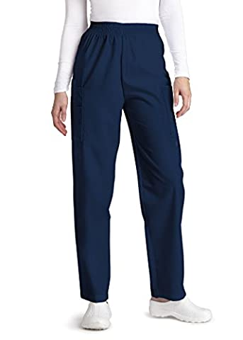 Adar Universal Natural-Rise Comfort 4 Pkt Cargo Utility Tapered Leg Pants - 503 - Navy - XL