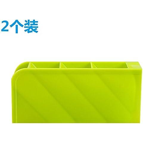 AQPDJ 2-pack desktop multifunzione ammettere cartuccia vanity desk chassis desktop controllo remoto organizzare cartuccia scatola di archiviazione , luce verde