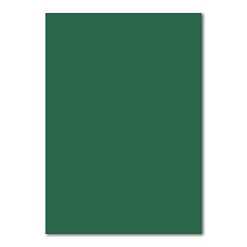 100x DIN A4 Papier Planobogen -Dunkelgrün - 110 g/m² - 21 x 29,7 cm - Bastelbogen Ton-Papier Fotopapier Bastel-Papier Brief-Papier - FarbenFroh®
