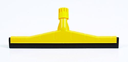 Professionale per La Pulizia Dei Pavimenti Duri Lavavetri E Resistente con manico in lega, ideale per mattonelle, cemento, legno e marmo., Yellow Replacement Head, Squeegee Head