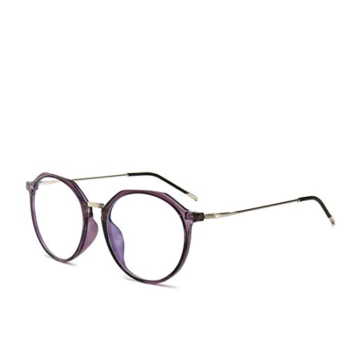 Mkulxina Neue übergroße Brillenfassung mit Anti-Blue-Light-Brille für Männer und Frauen ohne Verschreibungspflicht (Color : Purple)