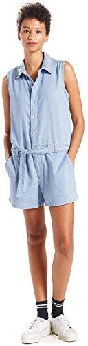Levi's Damen Molly Romper Kleid, Blau (Light Mid Wash 3 0000), Small (Für Levi Kleider Frauen)