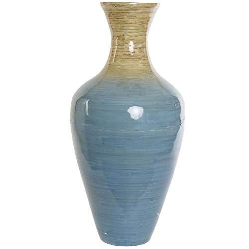 Zen et Ethno, große Vase, Bambus, 48 cm