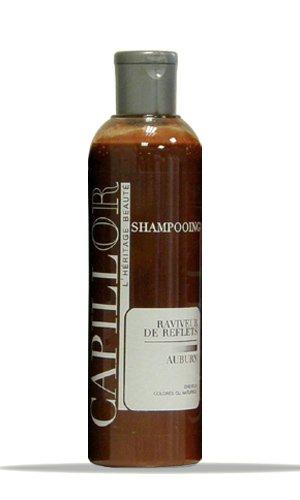 Shampoing colorant Auburn - Shampoing professionnel sans silicone avec coloration temporaire