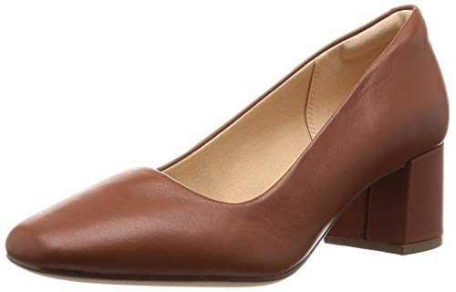 Clarks Sheer Rose, Scarpe con Tacco Donna, Marrone Tan Leather, 41 EU