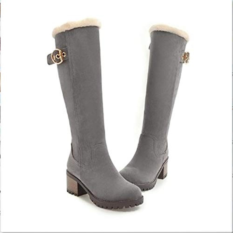 FMWLST Bottes Bottes À De Neige pour Femmes 6Cm Chaussures À Bottes Talons Hauts Chaussures De Fête d'hiver 855dca