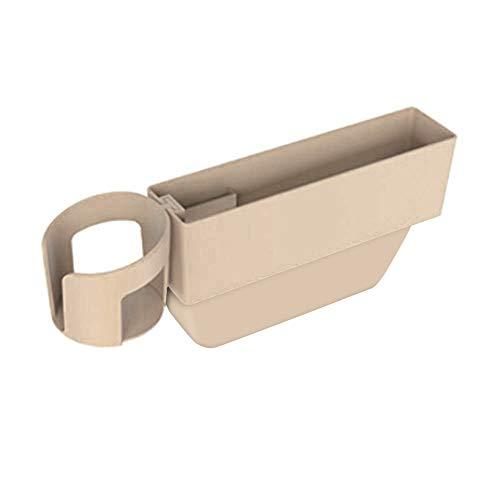 Telefon Seitentasche (iSpchen Autositz Crevice Aufbewahrungsbox Autokonsole Seitentasche Sitz Auto Organizer mit Wasser Getränkehalter für Telefon Karte Münzfach Schlüssel Zubehör)